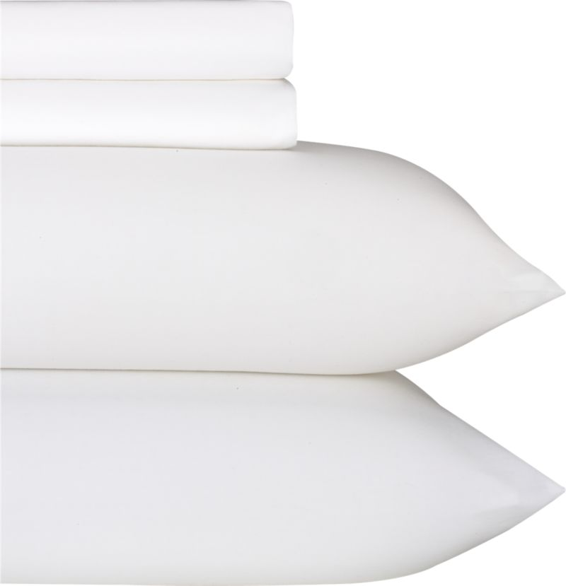 """Classic cotton sateen bedding in 230-thread-count combed cotton combines silky softness and a beautiful sheen with durability, quality and value. Detail work includes deep 4"""" hems and generous fitted sheet pockets for today's thicker mattresses. Bed pillows also available.<br /><br /><NEWTAG/><ul><li>100% cotton sateen</li><li>230-thread-count</li><li>Machine wash</li><li>Made in China</li></ul><br />"""