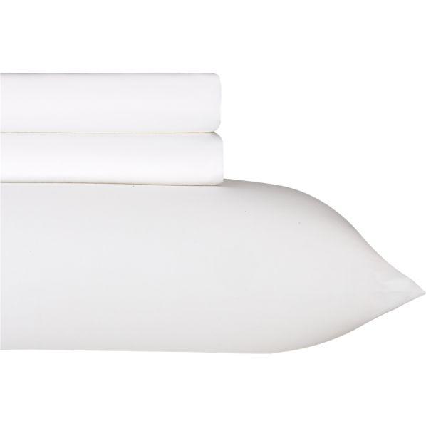 Sateen White Extra Long Twin Sheet Set