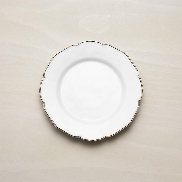 Savannah Salad Plate with Gold Rim