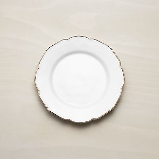 Savannah Salad Plate with Gold Rim