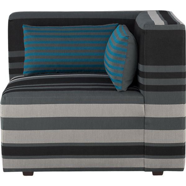 Savino Stripe Right Sectional Corner