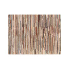 Savoy Cream Striped Hand Knotted Wool 9'x12' Rug