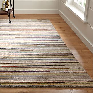 Savoy Tweed Striped Hand Knotted Wool Rug