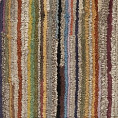 "Savoy Tweed Striped Hand Knotted Wool Rug 12"" Sq Rug Swatch"