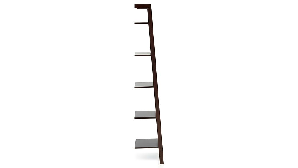 "Sawyer Mocha Leaning 18"" Bookcase"