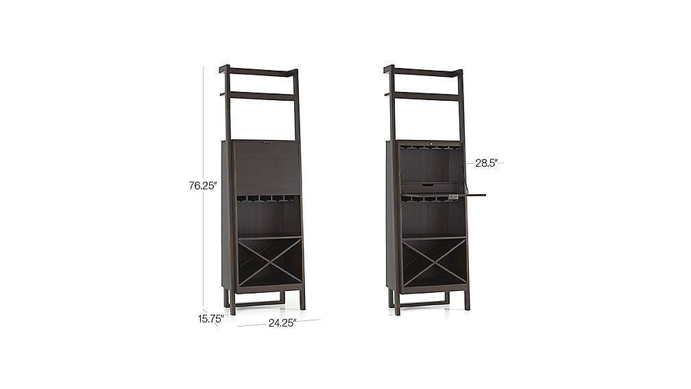 Sawyer Mocha Leaning Wine Bar Crate And Barrel