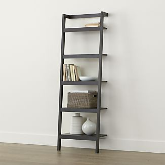 "Sawyer Grey Leaning 24.5"" Bookcase"
