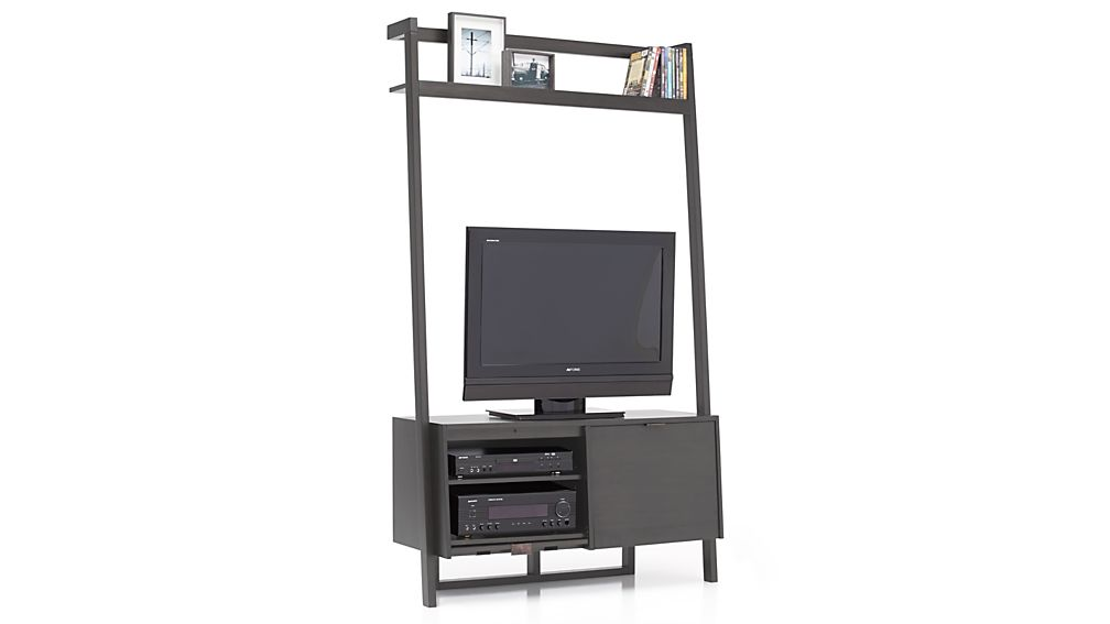 Sawyer Grey Leaning Media Stand Crate And Barrel