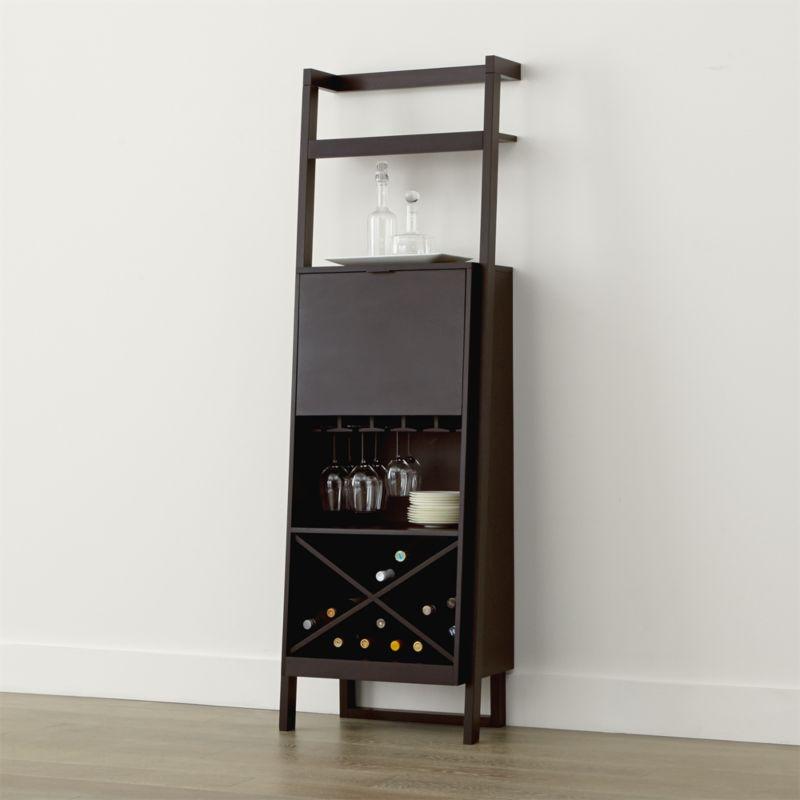 Sawyer Mocha Leaning Wine Bar Crate And Barrel
