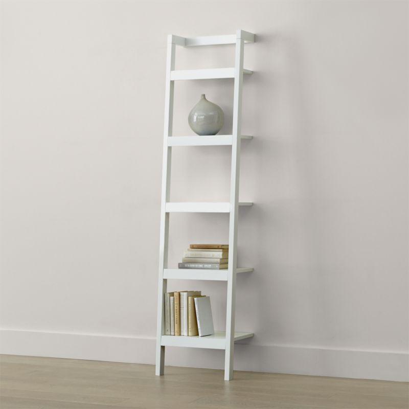 """Sawyer White Leaning 18"""" Bookcase"""