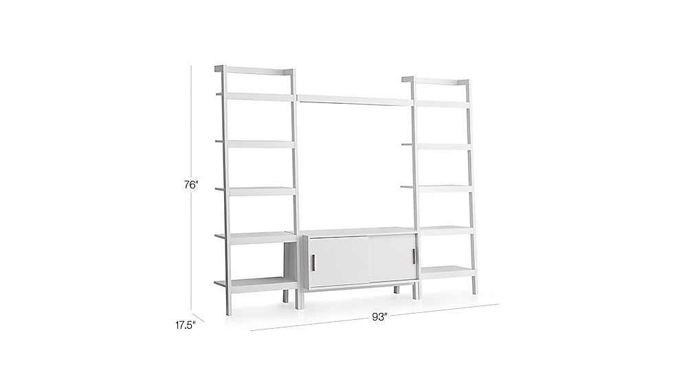 Sawyer White Media Stand With Media Shelf And Two 24 5