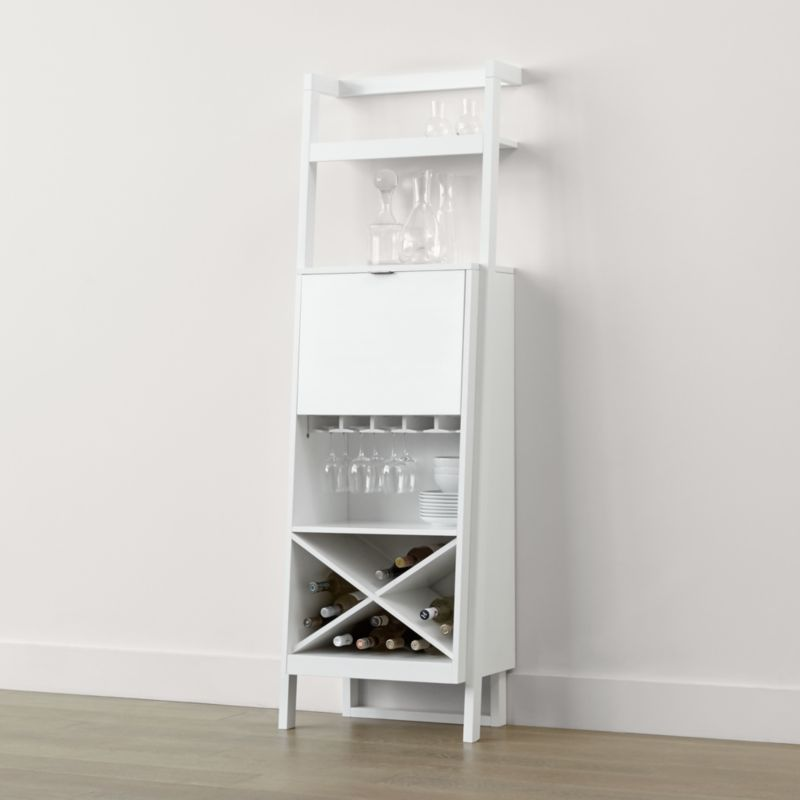 Sawyer White Leaning Wine Bar Crate And Barrel
