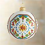 Floral Scallop Ball Ornament