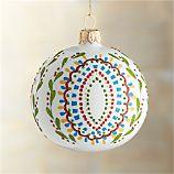 Mistletoe Scallop Ball Ornament