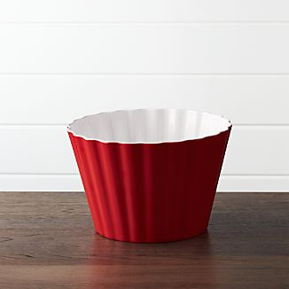 Scalloped Melamine Popcorn Tub