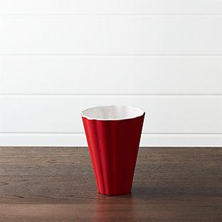 scalloped melamine popcorn tub crate and barrel. Black Bedroom Furniture Sets. Home Design Ideas