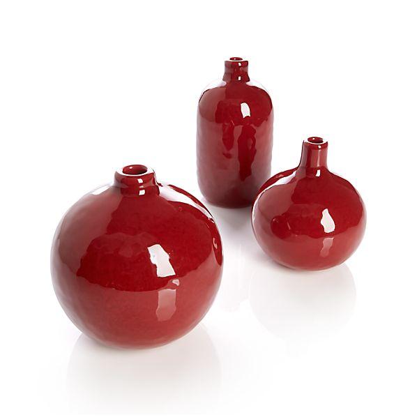 3-Piece Scarlett Mini Vase Set