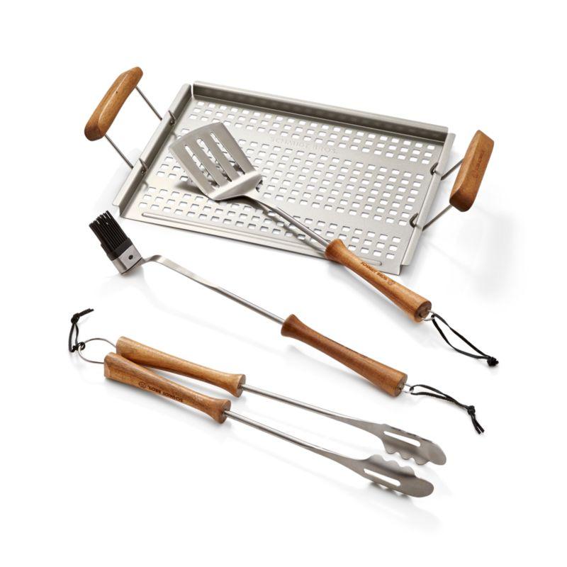 Schmidt Brothers ® 4-Piece Acacia Barbecue Tool Set