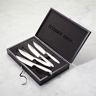 Schmidt Brothers ® Stainless Steel Jumbo Steak Knives Set of Four