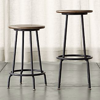 Scholar Backless Bar Stools