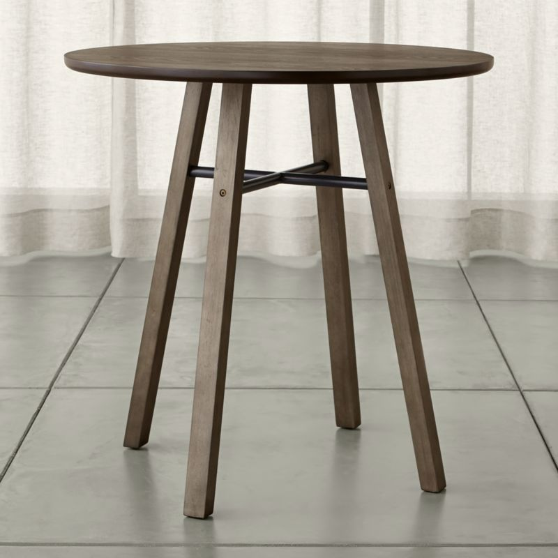 High Round Dining Table: Scholar Round High Dining Table