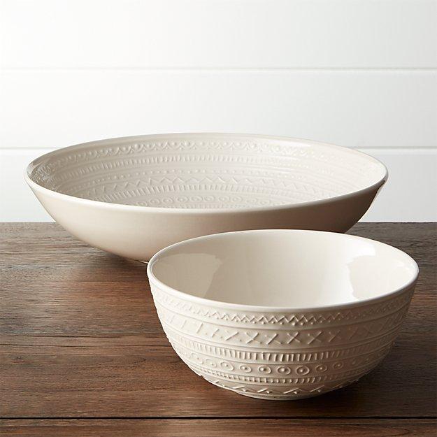 Scribe Serving Bowls