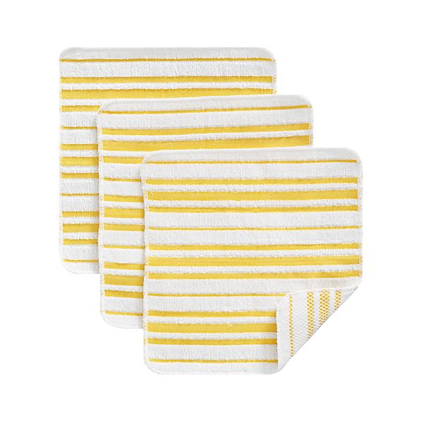 Set of 3 Scrubby Yellow Dishcloths