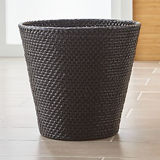 Sedona Black Tapered Waste Basket/Trash Can