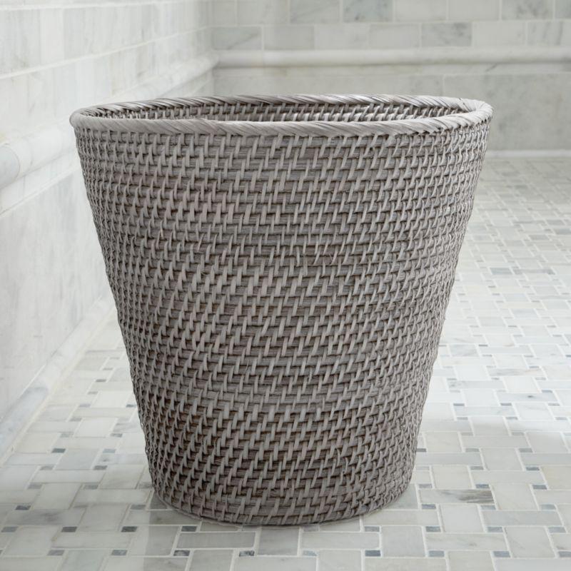 Sedona Grey Tapered Waste Basket/Trash Can