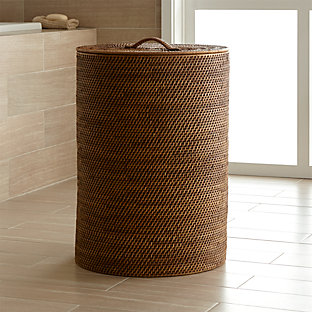 Sedona honey tapered waste basket trash can crate and barrel - Crate and barrel bathroom vanities ...