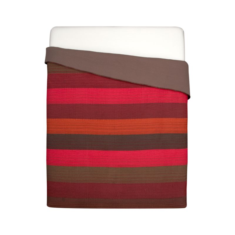 Layered in the hues of a sunlit canyon, our Sedona bed linens are quilted in broad horizontal stripes overlaid with contrasting hand-guided embroidery for added depth and dimension. Lustrous quilt reverses to earthy grey-brown cotton voile.<br /><br /><NEWTAG/><ul><li>100% polyester front</li><li>100% cotton voile back</li><li>100% cotton fill</li><li>Dry clean</li><li>Made in India</li></ul><br />