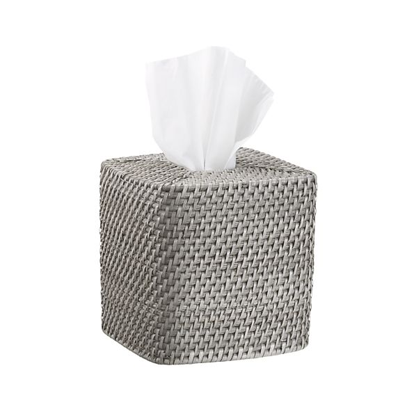 Sedona Grey Square Tissue Box Cover
