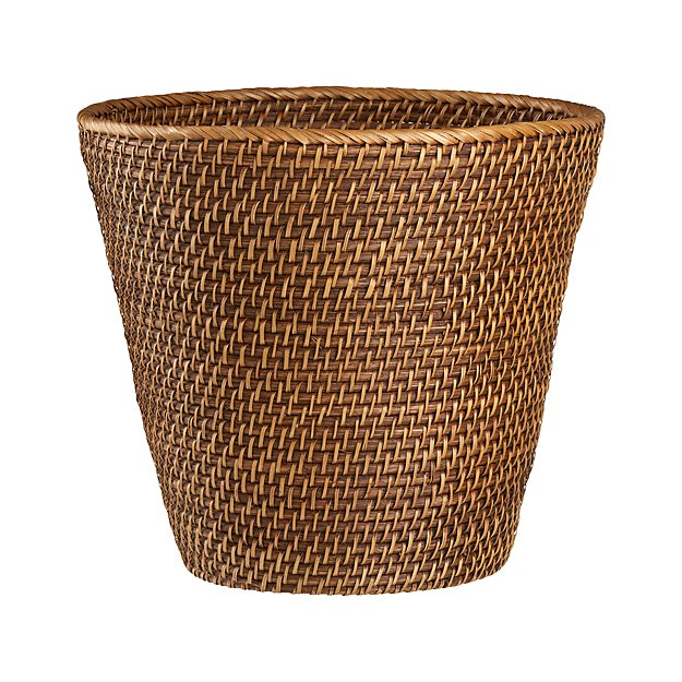 Sedona Honey Tapered Waste Basket/Trash Can