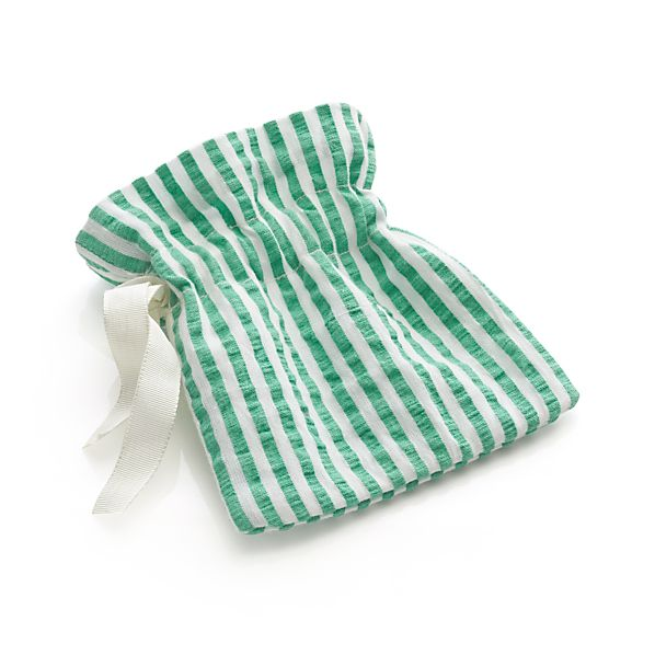 Seersucker Green Flatware-Goodie Pouch