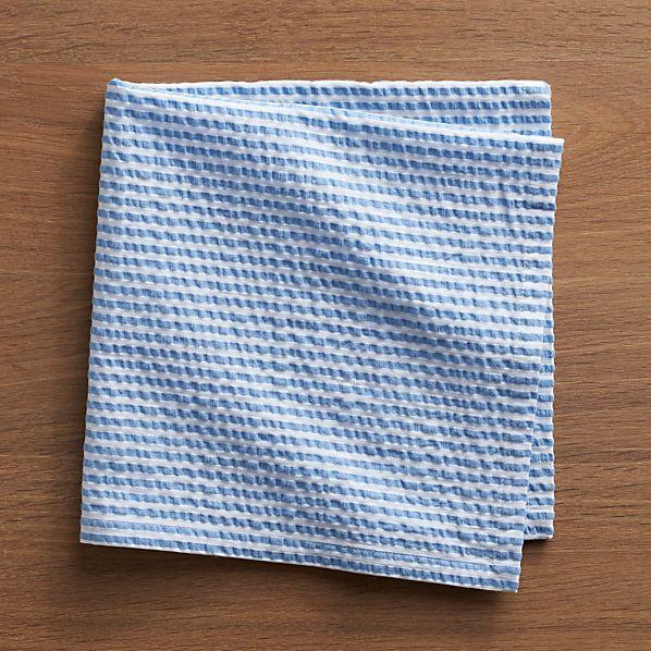 Seersucker Blue Napkin
