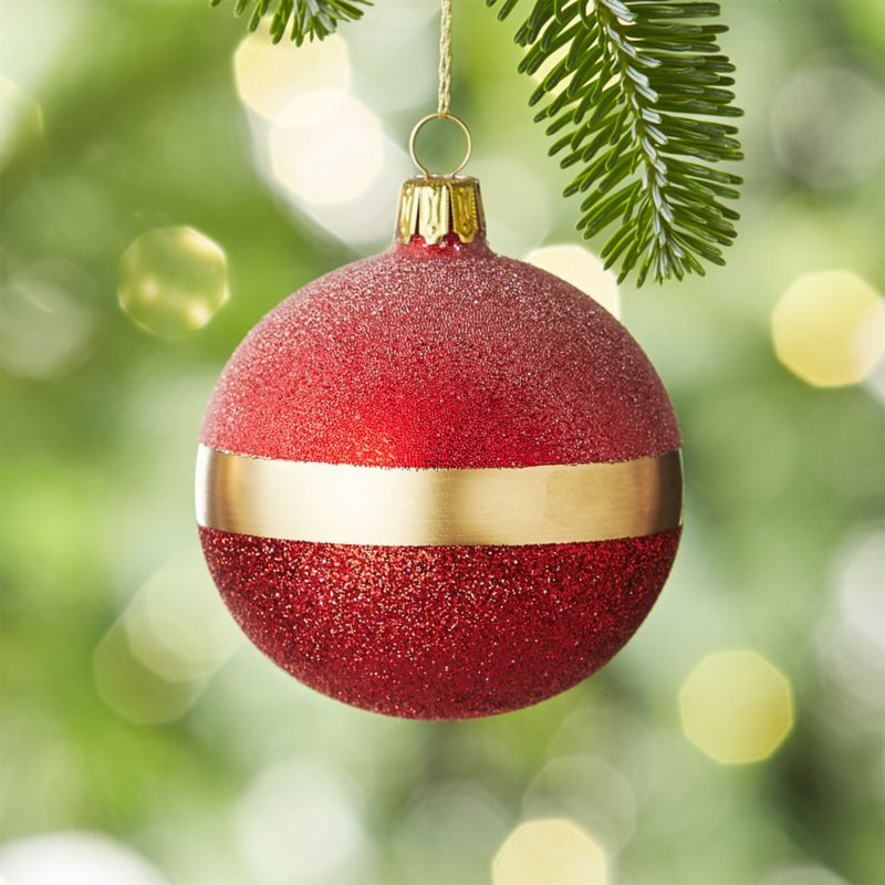 Selina Red Ball Ornament