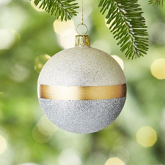 Selina Silver Ball Ornament