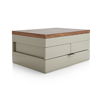Selma Taupe Jewelry Box