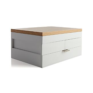 Selma White Jewelry Box