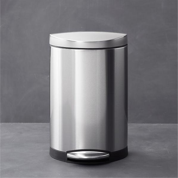 Simplehuman 174 10 Liter 2 6 Gallon Semi Round Stainless