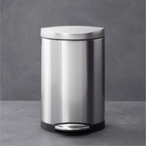 simplehuman® 2.6-Gallon Semi-Round Trash Can