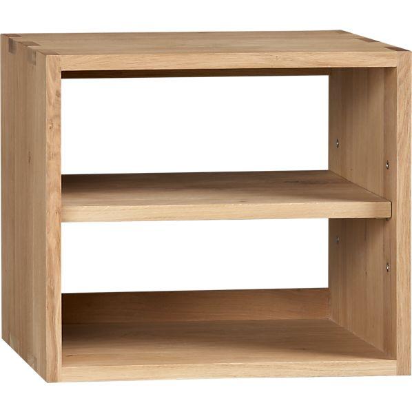 Sentry Oak Wall Box with Shelf