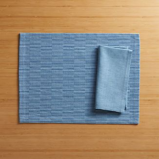 Sequence Blue Placemat and Napkin