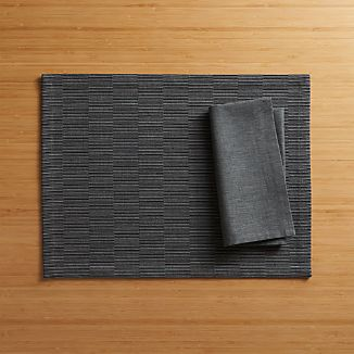 Sequence Charcoal Grey Placemat and Napkin