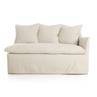 Serene Slipcovered Right Arm Loveseat