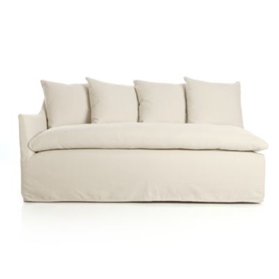 Serene Slipcovered Left Arm Sofa