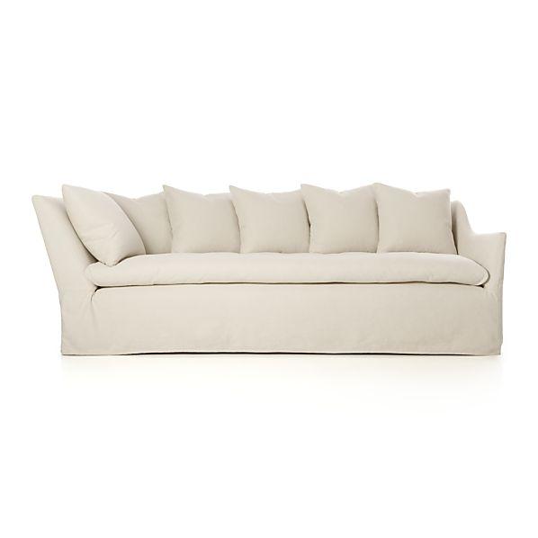 """Slipcover Only for Serene 98"""" Right Arm Corner Sofa"""