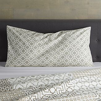 Sereno Neutral Hand-Blocked King Sham