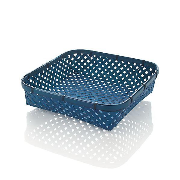Medium Blue Serving Basket