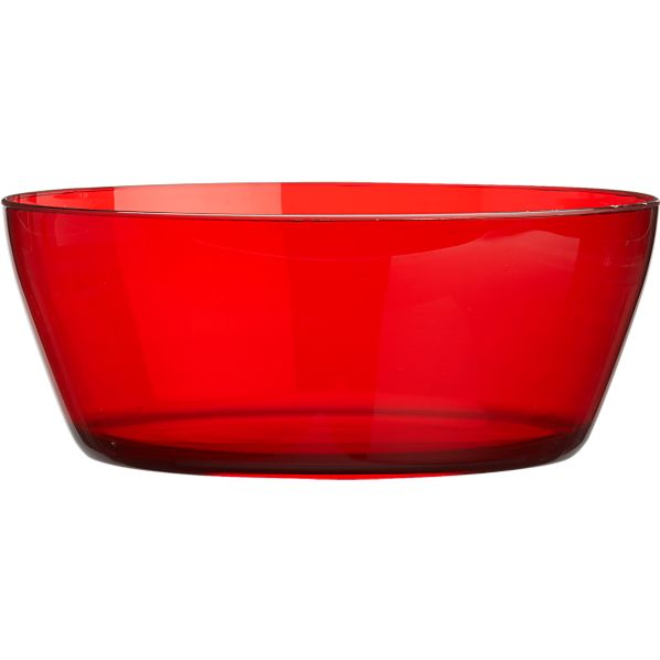 Acrylic Red Serving Bowl